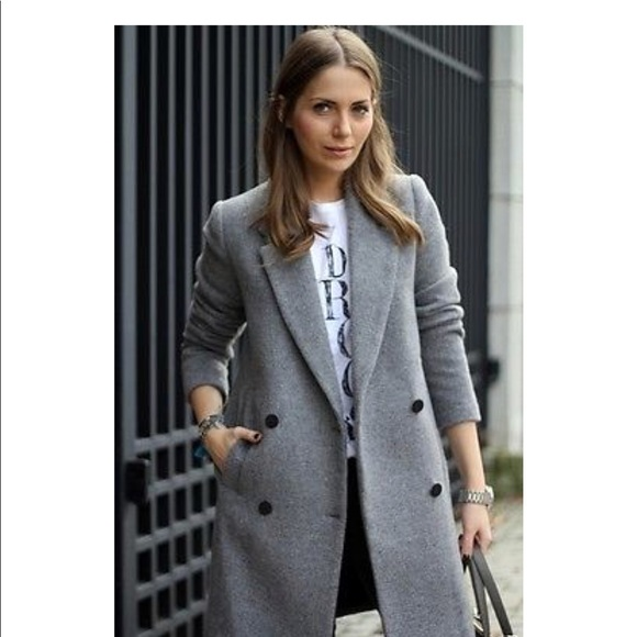 first rate latest selection of 2019 hoard as a rare commodity New Zara Women's Gray Wool Blend Peacoat Small NWT